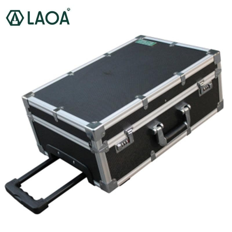 LAOA 20 inch Tool Case Storage Box Aluminum Shock Resistance Luggage Carrier Inner Plate Removable with Code Lock