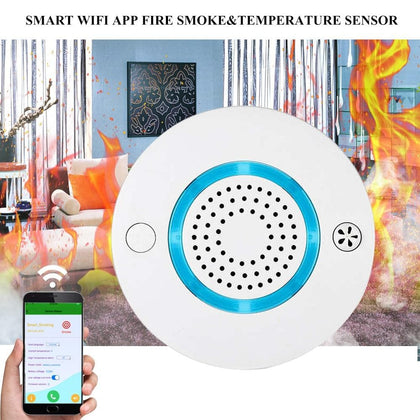 Smart Wireless WIFI+APP Fire Smoke & Temperature Sensor - Go Buy Dubai
