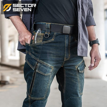Sector Seven 2020 New Slim City Casual Jeans  men Mid Waist Straight Denim Jeans Classic Indigo Blue Black Jeans Wear-resistant - Go Buy Dubai