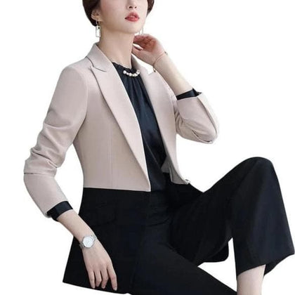 High-quality Elegant Blazer Women Outerwear Autumn Winter Coat Ladies - Go Buy Dubai