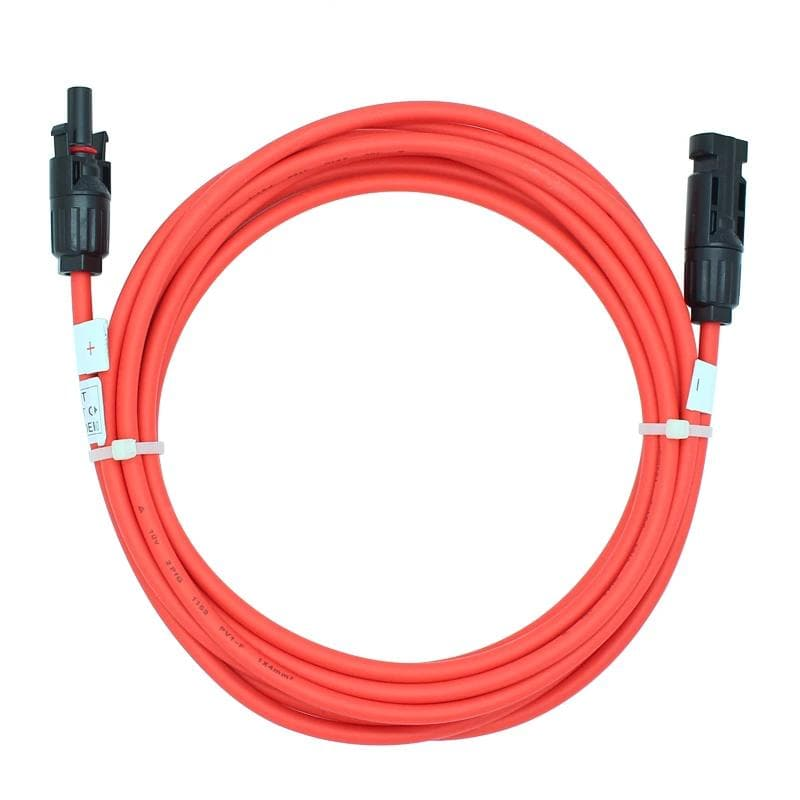 Free Shipping 2.5mm2/4mm2/ 6mm2 PV cable 14AWG 12AWG 10AWG Solar Extension Cable With MC-4 Connectors Male Female