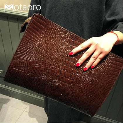 New Handbag Crocodile Clutches Leather Ladies Hand Bags Envelope Women Messenger O Bag Praty Evening Handbags Purses Sac A Main - Go Buy Dubai