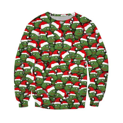Sad Christmas Frogs 3D All Over Printed Sweatshirt Hipster Casual Streetwear Top Men Women Clothing US Size - Go Buy Dubai