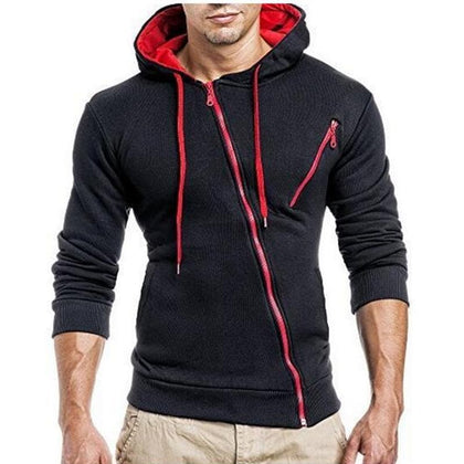 2019 Hoodies Men Sweatshirt 3D Mens Brand Hoodie Oblique Zipper Hooded Hoodie Sweatshirts Slim Fit Mens Hoodies Sudaderas Hombre - Go Buy Dubai