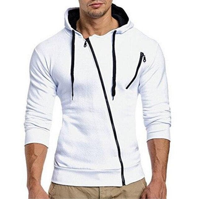 2019 Hoodies Men Sweatshirt 3D Mens Brand Hoodie Oblique Zipper Hooded Hoodie Sweatshirts Slim Fit Mens Hoodies Sudaderas Hombre