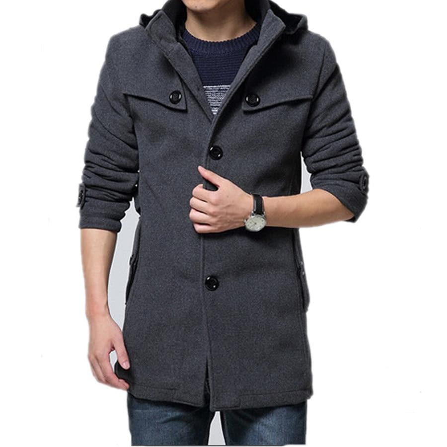Woollen Coat Thick Men's Clothing Size 4XL Wool Jackets