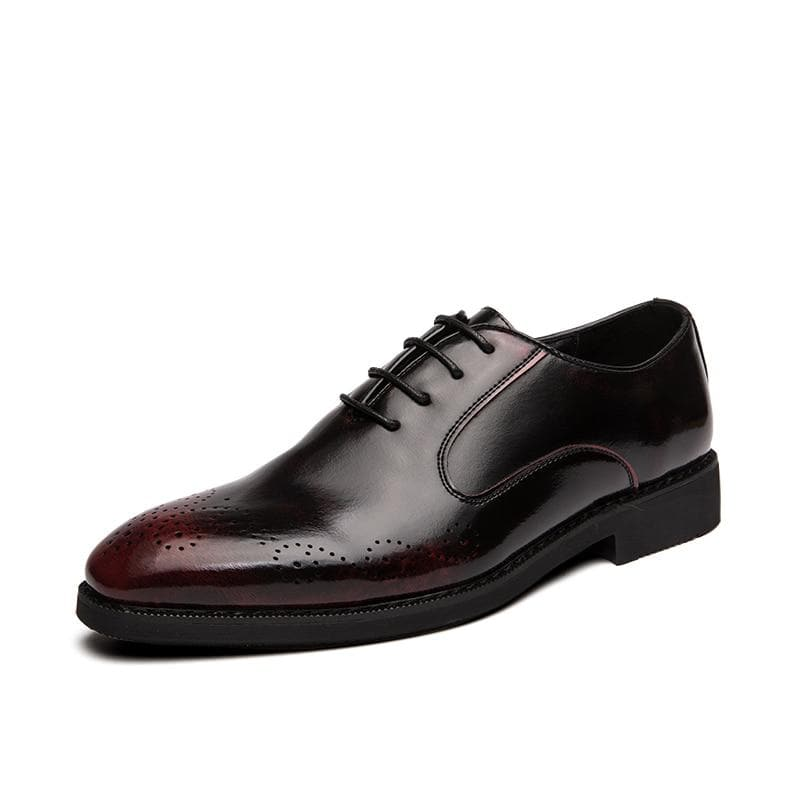 Men's Formal Pointed Toe Classic Pattern Business Formal Leather Shoes