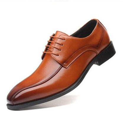 Men's Classic Fashion Elegant Pointed Toe Lace-Up Formal Shoes - Go Buy Dubai