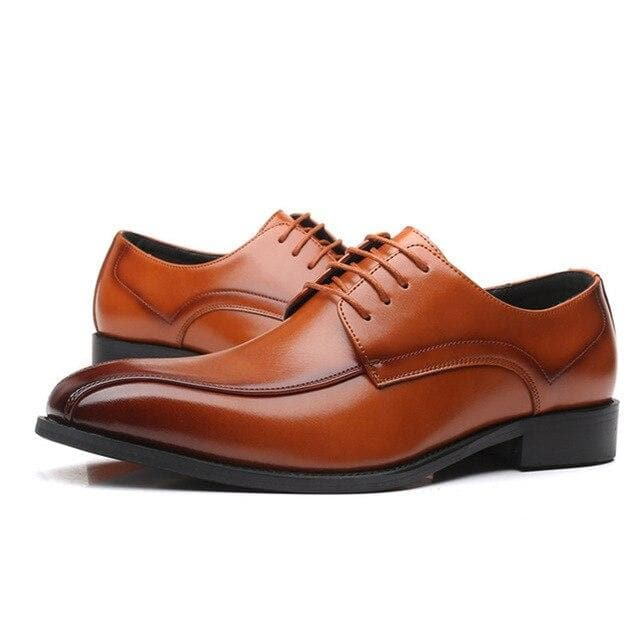 Men's Classic Fashion Elegant Pointed Toe Lace-Up Formal Shoes