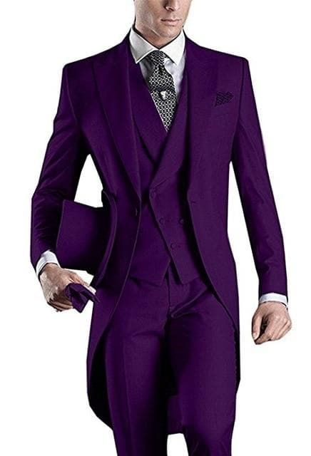Latest Design | One Button Wine Groom Tuxedos Lapel