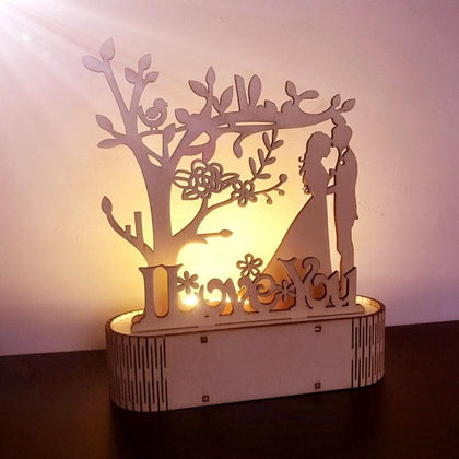 Wooden Decoration Wedding DIY Night Light Wedding Decoration Wedding Reception Warm Atmosphere Valentine Gift Home Decoration - Go Buy Dubai