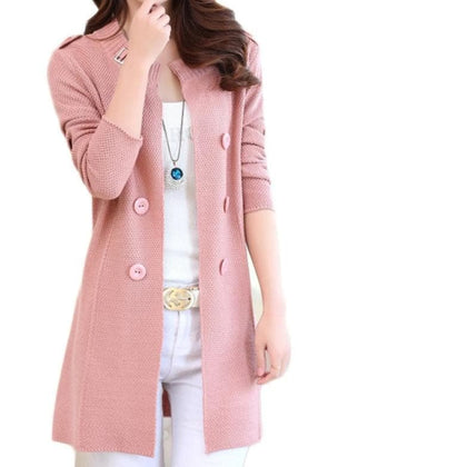 Women Sweater Cardigans Spring Autumn Long Sleeve Knitwear Cardigan Female Knitted Coat - Go Buy Dubai