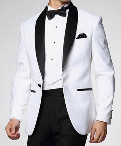 Latest Coat Pant Designs White Men Tailor Made Groom Prom Blazer 2 Piece Tuxedo Jacket+Pant - Go Buy Dubai