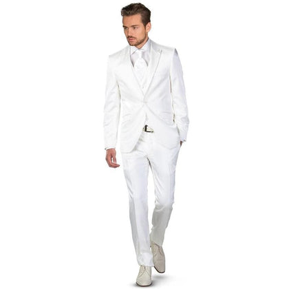 Latest Designs White 2020 Men Suits for Wedding Peaked Lapel One Button 2 Pieces - Go Buy Dubai