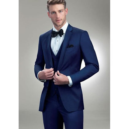 Hot Sales Latest Designs Royal Blue Men Wedding Suit 3 pieces - Go Buy Dubai
