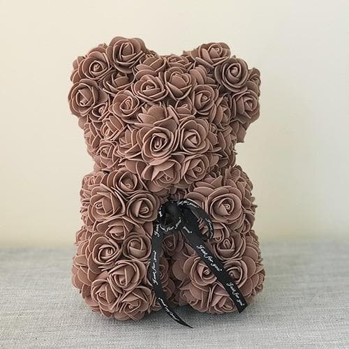 23CM Gift Box Rose Bear 25CM Teddy Bear Artificial Flower Bear For Valentine's Day Girlfriend's Gift Wedding Decorative