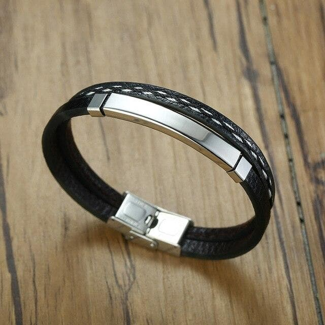 Armani Stainless Steel Cubic Bracelet | New Fashion Leather Bracelets