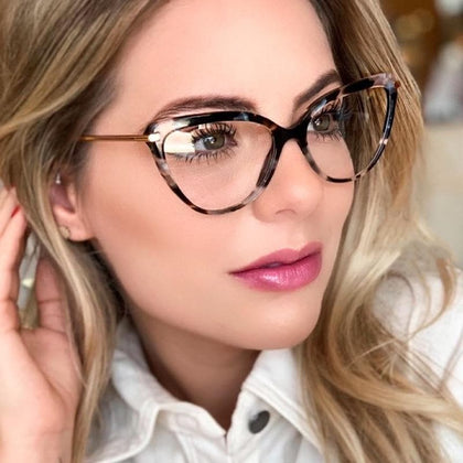 High Quality Transparent  Women Cat Eye Eyeglasses Frame Women Men Optical Glasse Frame Computer Blue Light Blocking Glasses - Go Buy Dubai