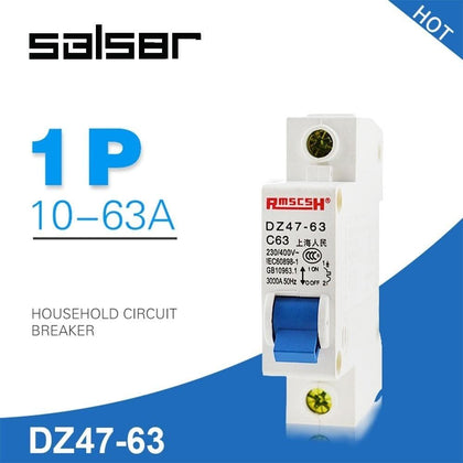 DZ47-63 1P 1A-63A Household Atmosphere Switch Short Circuit Protect Type Small-sized Circuit Breaker - Go Buy Dubai