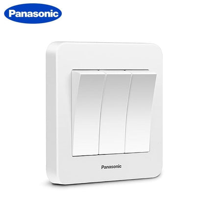 Panasonic EU Standard Switch Push Button Light Switch 1 Gang 2 Gang 3 Gang 4 Gang Wall Switch Interruptor - Go Buy Dubai