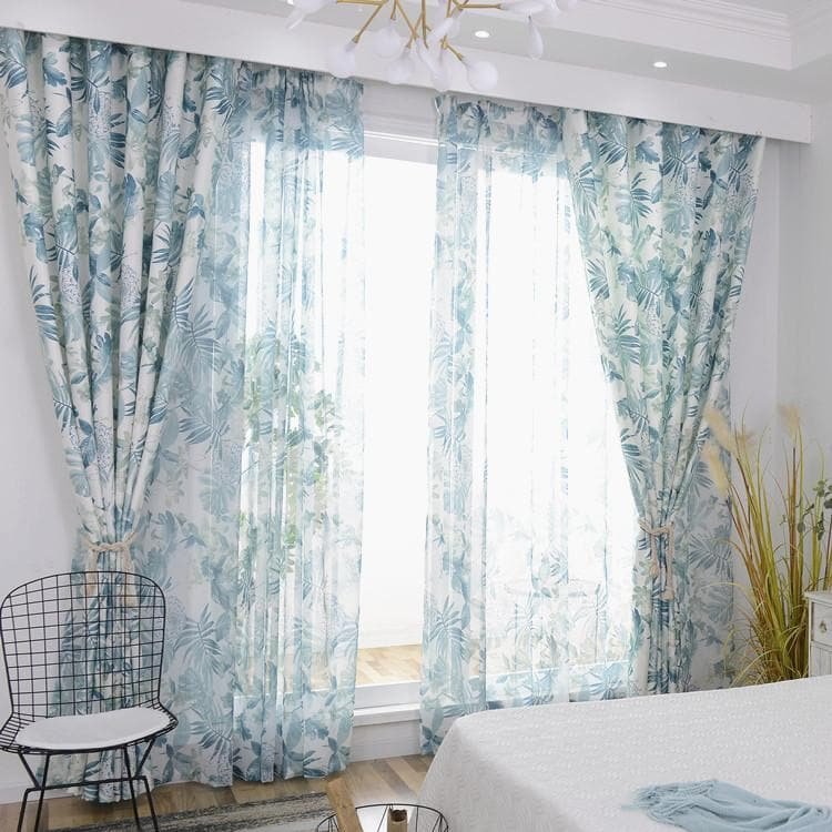 Curtains for Bedroom Living Room Printed Pastoral Curtains