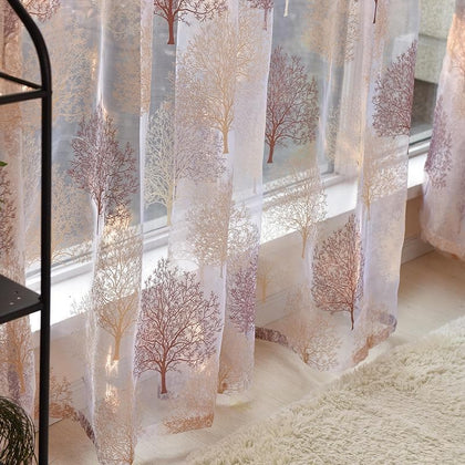 Modern Tulle Window Curtains for Living Room Bedroom Kitchen Window Sheer Curtains Home Decor Voile Curtains Panel Drape - Go Buy Dubai