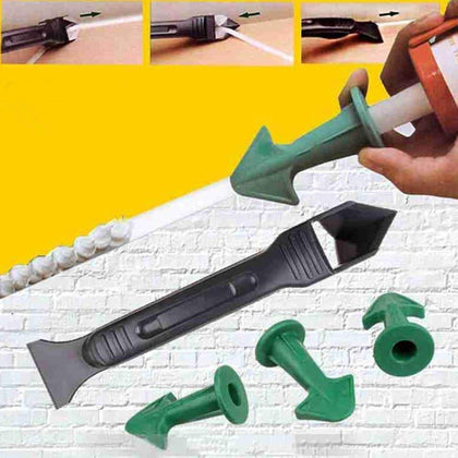Silicone Remover Caulk Finisher Sealant Smooth Scraper Grout Kit Tools Glue Nozzle Cleaning Tile Dirt Tool Spatula Glue Shovel - Go Buy Dubai