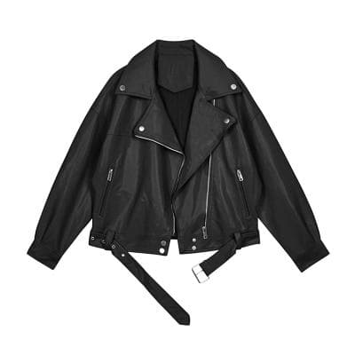 ZURICHOUSE Motorcycle Leather Jacket Women 2020 Fashion Lapel Zipper Short Coat Black Beige Faux Leather Biker Jacket