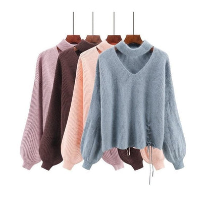 Spring women vintage sweaters fashion 2018 new style long sleeve fall sweaters for women - Go Buy Dubai