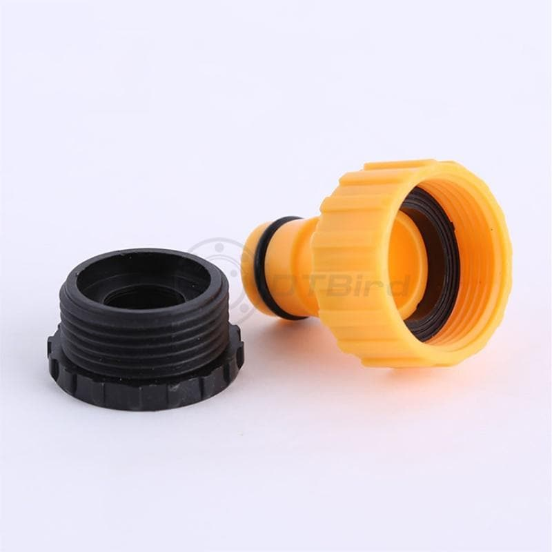 3PCS Coupling Adapter Drip Tape Watering Irrigation Faucet Hose Connecter with 1/2'' 3/4'' Male Garden Water Connector