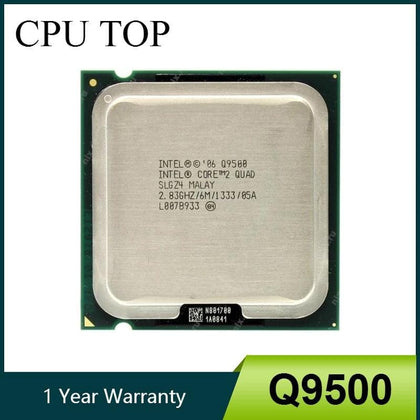 Intel Core 2 Quad Q9500 Processor 2.83GHz 6MB 1333MHz Socket 775 cpu 100% Working - Go Buy Dubai