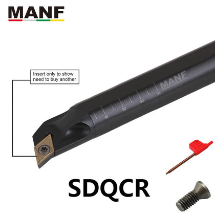 MANF 8mm10mm S16Q-SDQCR07 Turning Tool Boring Bar Cutting Toolholders Screw Clamping Hoders For DCMT07/11 Indexable Inserts - Go Buy Dubai