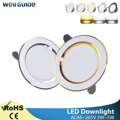 Led Downlight 3W 5W Downlight AC220V-240V Warm Cold White recessed led downlight Kitchen living room Indoor recessed downlight - Go Buy Dubai