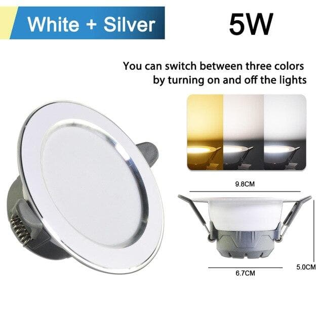 Led Downlight 3W 5W Downlight AC220V-240V Warm Cold White recessed led downlight Kitchen living room Indoor recessed downlight