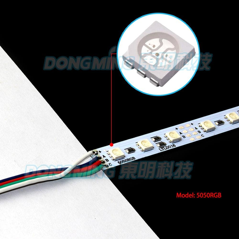 6pcs 5050 led hard strip, rgb led bar light 12V 36Leds 4Pin Connect U profile milky/transparent pc cover led luces strip 50cm