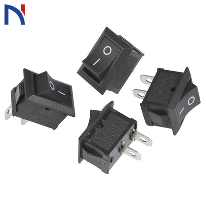 10/20 PCS Switch ON-OFF KCD1 15*21mm 2pin Ship Type Switch 6A 250V 10A 125V 15X21 Rocker Switch power switch black New - Go Buy Dubai