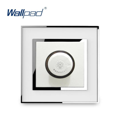 LED Dimmer Light Switch Knob Switches New Arrival Wallpad Luxury Acrylic Panel With Silver Border 15-500W - Go Buy Dubai