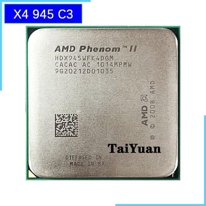 Phenom II X4 945 95W 3.0GHz Quad-Core CPU Processor HDX945WFK4DGM/HDX945WFK4DGI Socket AM3 - Go Buy Dubai