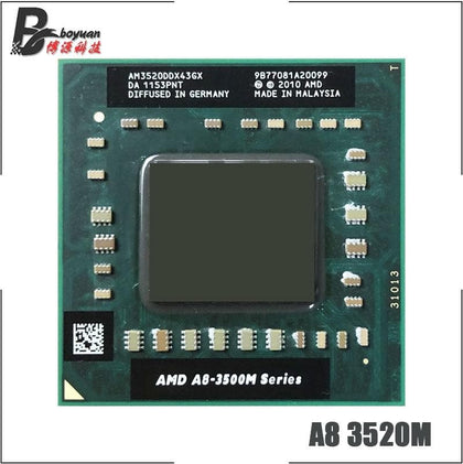 A8-Series A8-3520M A8 3520M 1.6 GHz Quad-Core Quad-Thread CPU Processor AM3520DDX43GX Socket FS1 - Go Buy Dubai