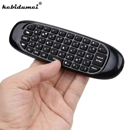 Mini 2.4GHz Wireless For Gyroscope Air Mouse Game Keyboard with Remote Control for Computers Smart TV Tablets Game Console - Go Buy Dubai