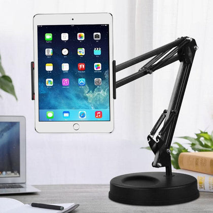 Universal Long Arm Tablet Stand Holder Desktop lazy Mobile Phone Bracket Support Mount For iPhone iPad mini Pro Tablet Holder - Go Buy Dubai