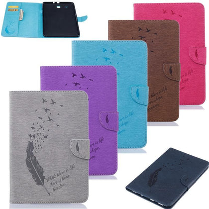 Fashion Tablet Case Cover For Samsung Galaxy Tab E 9.6 T560 SM-T560 /T561  Card Slot flip PU Leather Stand Card holder Pen - Go Buy Dubai