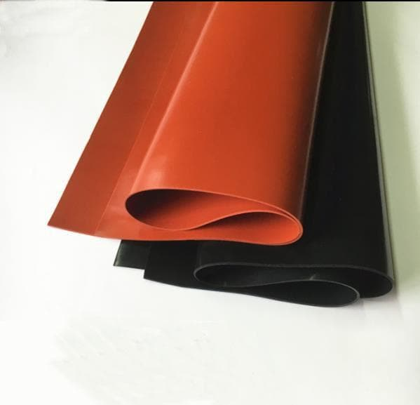 1mm/1.5mm/2mm Red/Black Silicone Rubber Sheet 250X250mm Black Silicone Sheet, Rubber Matt, Silicone Sheeting for Heat Resistance