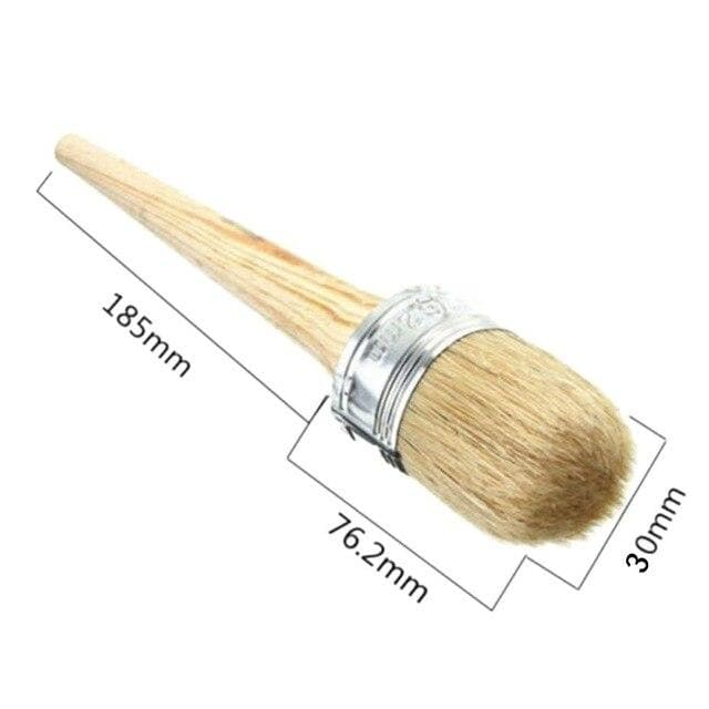 20 / 30mm Round Head Paint Brush Long Handle Brush Pure Bristle Hair Wooden Handle Home Decoration Powder Wall Paint Tool New