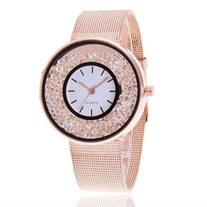 Casual Women Romantic Wrist Watch Leather Rhinestone Designer Ladies Clock Simple Gfit Montre Femme Christmas Reloj Mujer Hot&50 - Go Buy Dubai