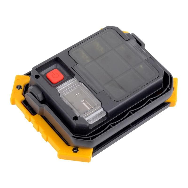 LED Flood Light 10W Worklight LED COB Chip Floodlight Spotlight Outdoor Search Lighting USB Rechargeable Warning Light
