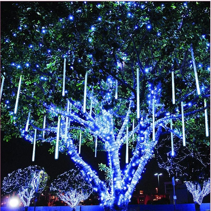 220V 110V Christmas Decor String Lamp 20cm 30cm 50cm Meteor Shower Rain 8 Tubes LED String Lights Waterproof For Indoor Outdoor