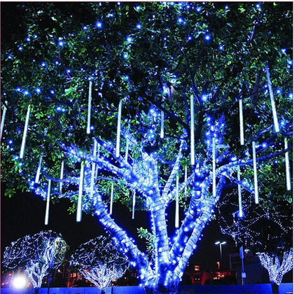 220V 110V Christmas Decor String Lamp 20cm 30cm 50cm Meteor Shower Rain 8 Tubes LED String Lights Waterproof For Indoor Outdoor - Go Buy Dubai