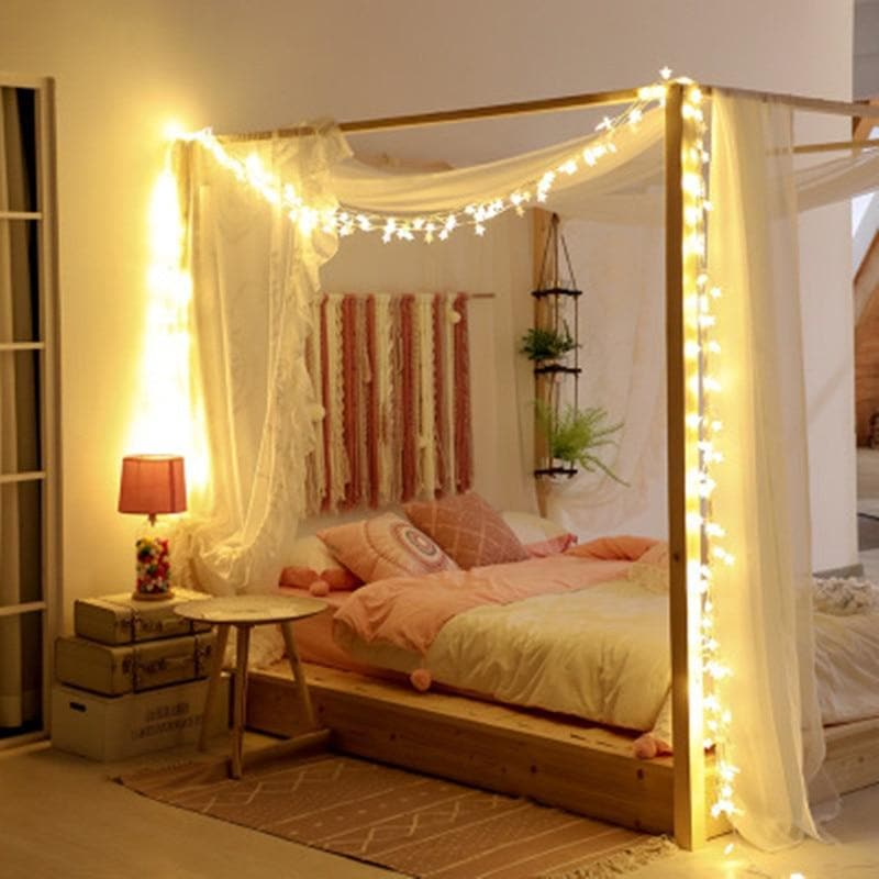 Cotton Ball Light String 10LED 20LED Luminaria Curtain Light Girl Room Decoration Lights Wedding Patio Holiday Battery Lights