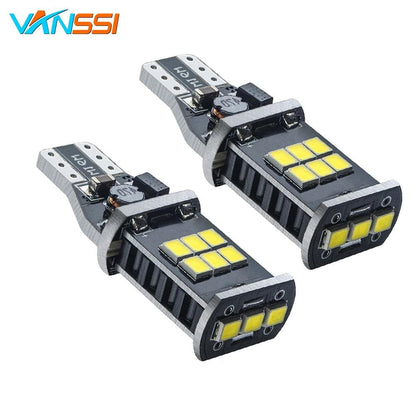 VANSSI 2x T15 T16 W16W LED Bulbs CANBUS 921 915 WY16W LED Car Light Lamp White Amber/Yellow - Go Buy Dubai